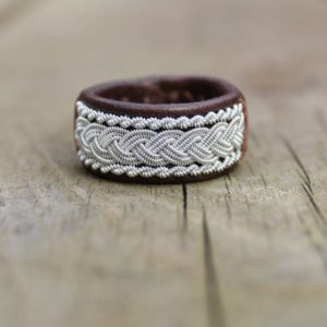 Sami leather ring